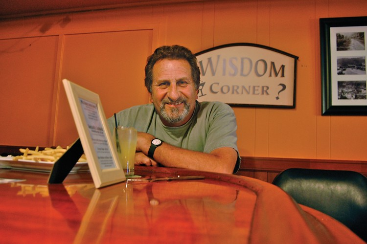 Roby Agnew welcomed us to Wisdom Corner - PHOTO BY ANDREW GOFF