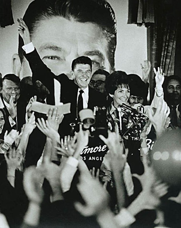 Ronald Reagan and Nancy Reagan celebrate Reagan's California Gubernatorial victory in Los Angeles, Calif. Photo courtesy of the Ronald Reagan Library, Public Domain.