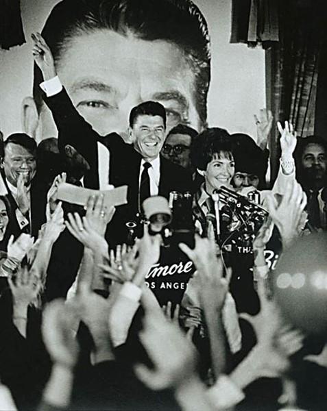 Ronald Reagan and Nancy Reagan celebrate Reagan's California Gubernatorial victory in Los Angeles, Calif. Photo courtesy of the Ronald Reagan Library, Public Domain.
