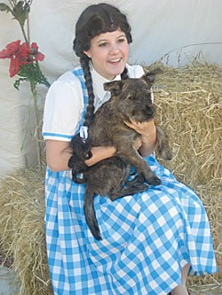 Rosie O'Leary as Dorothy with Toto wanna be. Photo by Meghannraye Sutton.