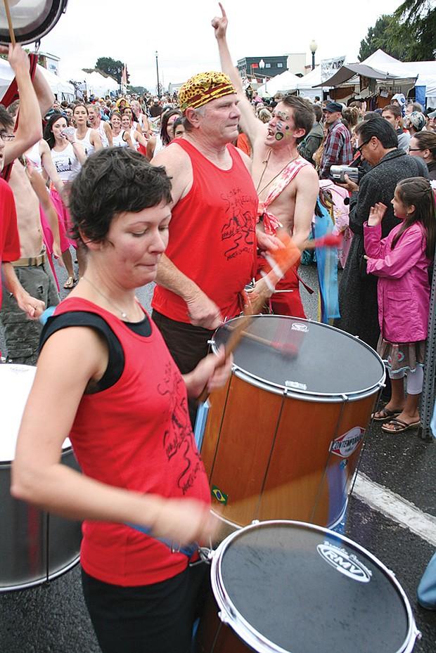 Samba da alegria drummers at 2010 north county fair. - PHOTO BY BOB DORAN