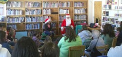 JOSH HARKINS - Santa and friends during last year's Christmas story time at the Fortuna Library.