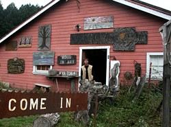 PHOTOS BY KEN WEIDERMAN - Shea outside his studio on Old Arcata Road.