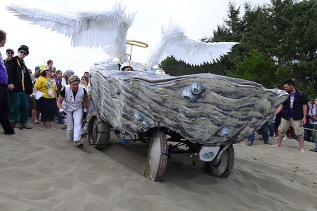 Shells Angels prepares to take Deadman's Drop. - MARK MCKENNA