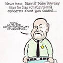 Sheriff Mike Downey says he has constitutional concerns about gun control