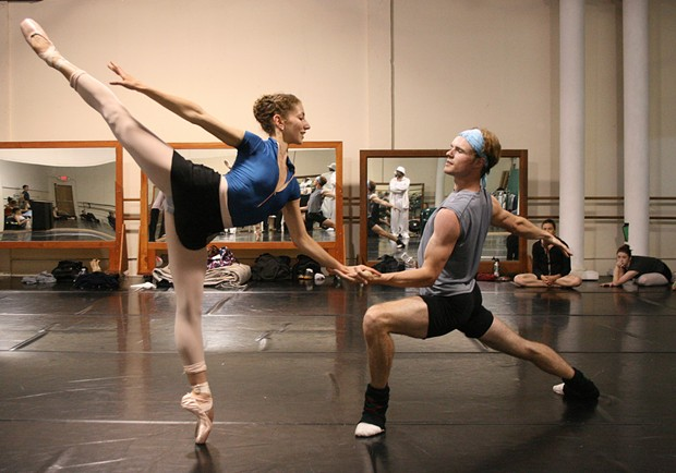 Shira Lanyi and Phillip Skaggs as Cinderella and The Prince in A Humboldt Cinderella - PHOTO BY BOB DORAN