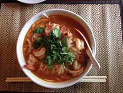 PHOTO BY JENNIFER FUMIKO CAHILL - Siam orchid's tom yum noodles.