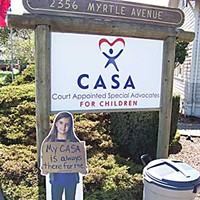 The CASA Sign outside the Eureka office of CASA, on Myrtle Avenue. Photo by Heidi Walters