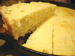 Skillet cornbread. Photo by Flickr user Daxiang Stef. Creative Commons Attribution License.