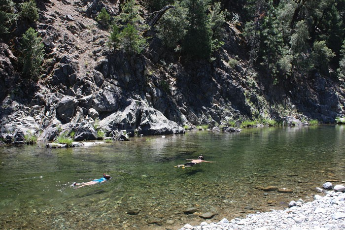 Snorkeling off the Trinity River. - PHOTO BY CHRISTIAN PENNINGTON