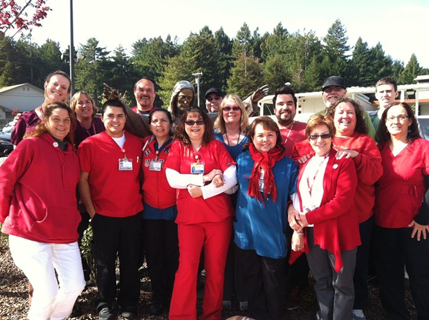 St. Joseph Hospital- Eureka service workers on the union organization committee. - PHOTO COURTESY OF KERRY SWEENEY