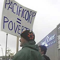 Mission to Omaha Standing in the rain on a brisk Saturday morning, tribal members protested in front of the Qwest Center to raise awareness...