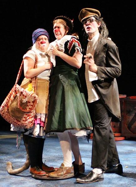 Stephanie Thompson, Lauren Wilson and Joe Krienke (l-r) - PHOTO COURTESY OF DELL'ARTE
