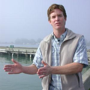 Stephen Pepper at the Schneider Dock. Photo by Heidi Walters.