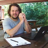Best Of Humboldt -- Staff Picks Stuart Brioza surfs the Web in Fortuna's Rohner Park. Photo by Heidi Walters