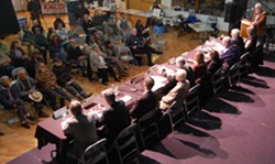 PHOTO BY ANDREW GOFF - Sunday's 2nd district Congressional candidates debate