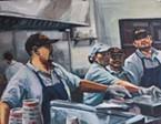 """""""Super Taco,"""" painting by Ryan Spaulding"""