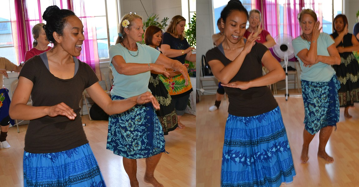 Tatiana's hula class - PHOTO BY STEPHANIE SILVIA