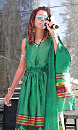 Tchiya Amet at Reggae on the River 2001. Photo by Bob Doran