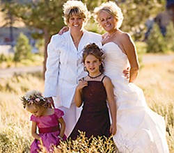 Terianne and Jan Topp and family on their wedding day. Photo by Johnstone Studios.