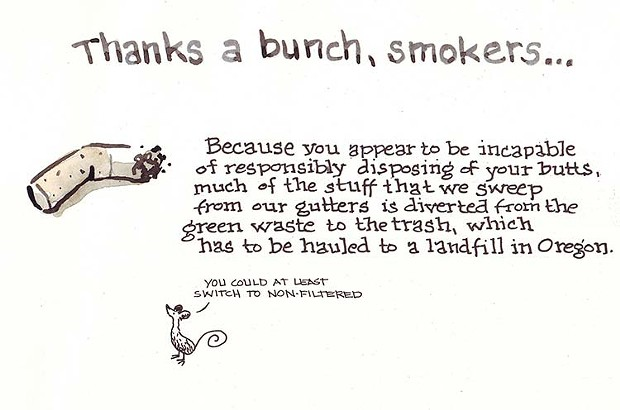 Thanks a bunch, smokers...