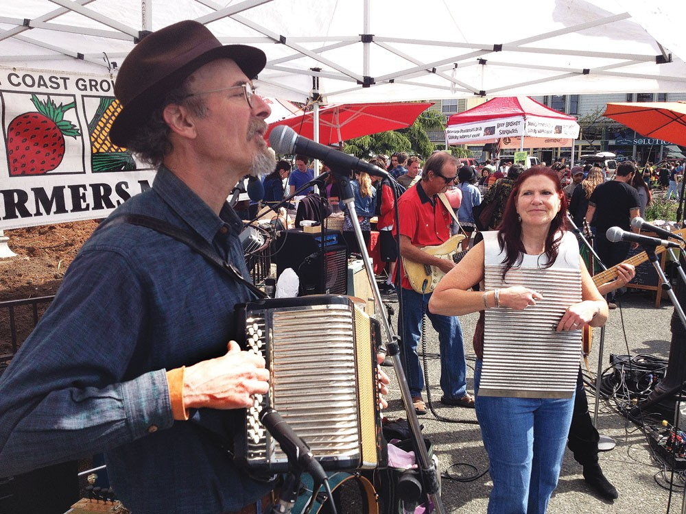 The Bayou Swamis welcome a new Farmers' Market season with some jumpin' Cajun music Saturday, April 5 in the center of the Arcata Plaza. - PHOTOS BY BOB DORAN