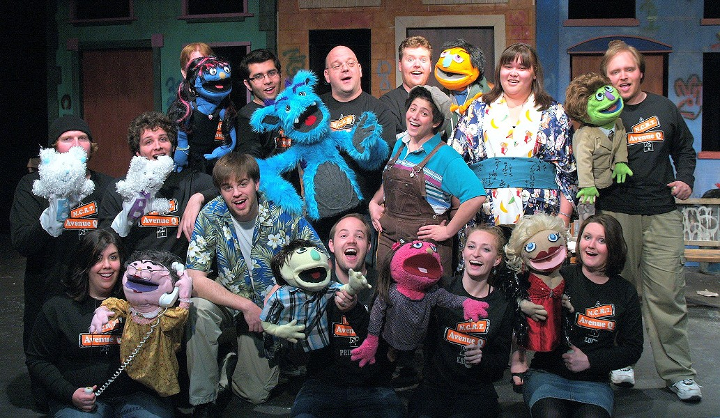 The Cast of Avenue Q - COURTESY OF NCRT