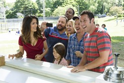 "The cast of Grown Ups 2 just can't get enough of ""Ow! My balls!"""