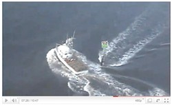 YOUTUBE VIDEO BY PETTY OFFICER ANDRES SIERRA. - The Coast Guard filmed the Amanda B's escape.