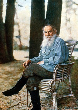 PUBLIC DOMAIN. - The color photograph that won Prokudin-Gorsky an audience with the tsar: Leo Tolstoy in 1908, two years before his death.