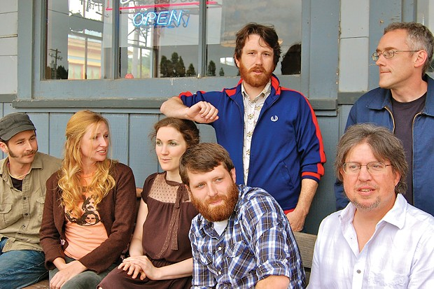 The Crawl Crew: Andy Powell, Alanna Goldsmith, Katie Hennessy, Will Startare,  Andrew Goff, Larry Trask, and John Matthews