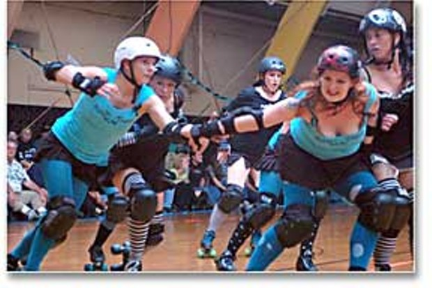 The Derby Dolls in action.