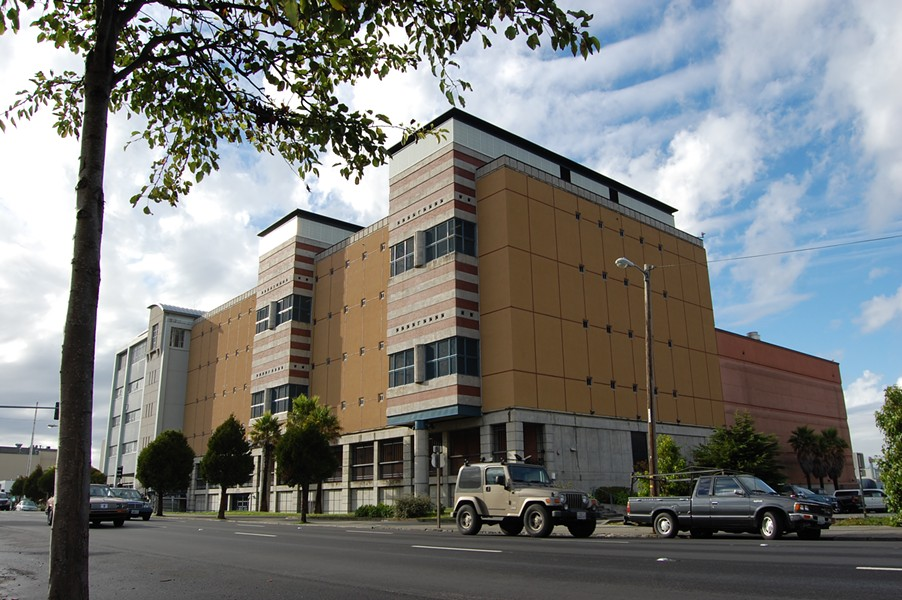 The Humboldt County Jail, seen from Fifth Street in Eureka, is already at capacity. - RYAN BURNS