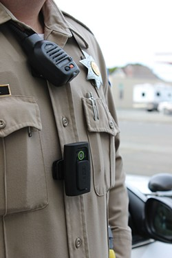 PHOTO BY THADEUS GREENSON - The Humboldt County Sheriff's Office recently had deputy Conan Moore wear a body camera while on patrol for two weeks as a part of a pilot project testing the technology.