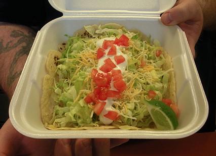 The namesake Tasty Taco. - JENNIFER FUMIKO CAHILL