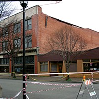 Rumbletown The Old Town Bar & Grill building on Second Street in Eureka sustained major damage and has been scheduled for demolition. Photo by Ryan Burns