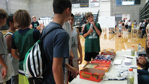 the popular concession stand at basketball camp. - PHOTO BY TAMMY RAE SCOTT.