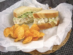 PHOTO BY DREW HYLAND - The purist's crab sandwich at Myrtle Avenue Market.
