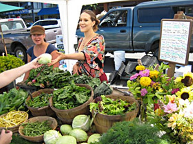 The Redwood Roots Farm stand at the Arcata Farmers' Market. Photo by Bob Doran.