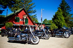 PHOTO BY TERRENCE MCNALLY - The summertime biker roadhouse, Phillipsville's Riverwood Inn.