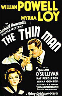 'The Thin Man', 1934, starring William Powell and Myrna Loy as Nick and Nora Charles.