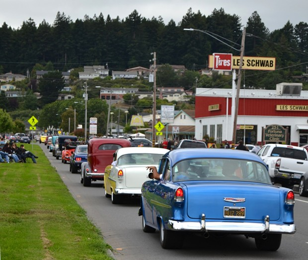 The traffic on Main Street, Fortuna.