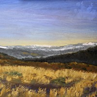 Arts! Arcata Febuary The Upstairs Gallery at Umpqua Bank features plein-air oils by Yuma Lynch
