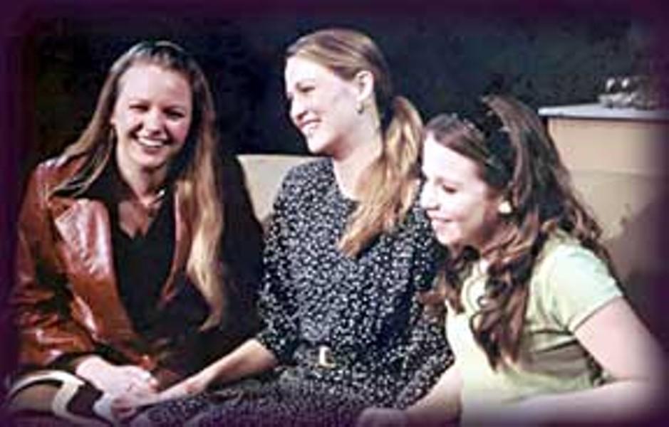Theresa Ireland as older Molly, Kim Hodell as Julie, Derby McLaughlin as younger Molly. Photo courtesy NCRT.