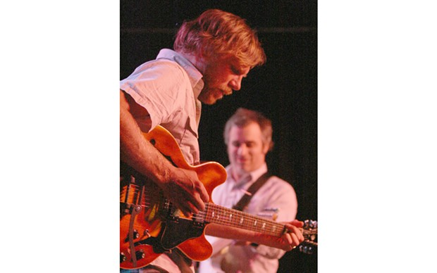 Tim Bluhm and Greg Loiacono of The Mother Hips at Humboldt Brews - PHOTO BY BOB DORAN