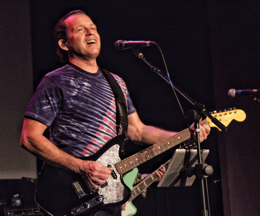 Tommy Castro and his band The Painkillers rock out as headliners for the Blues Night at the Eureka Theater during the Redwood Coast Jazz Festival on Friday, March 28. - PHOTOS BY BOB DORAN