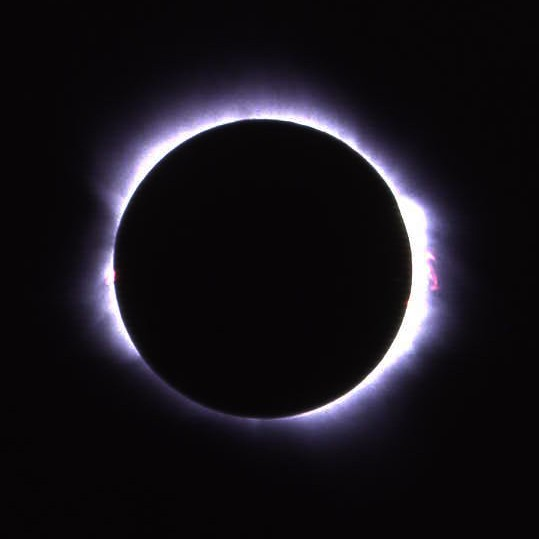 Total solar eclipse from Los Friales, Baja California Sur, Mexico: July 11, 1991. - BARRY EVANS