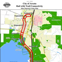 Rail With Trail Trail-With-Rail Map. Courtesy of City of Arcata.