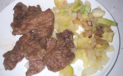 PHOTO BY LINDA STANSBERRY. - Trophy meal: pan-fried venison.