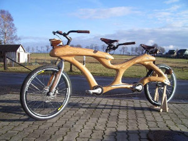 Try a wooden bike! - CREATIVE COMMONS